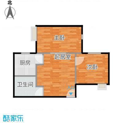 唐品A+124.00㎡4号楼一层B户型2室1卫1厨
