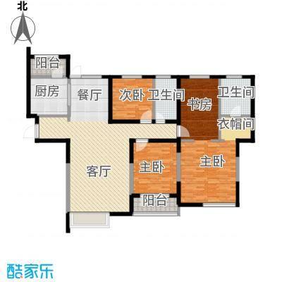 中海明珠166.00㎡G户型4室2厅2卫