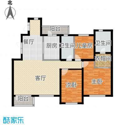 九洲御府158.00㎡洋房3F4FA户型3室2厅2卫