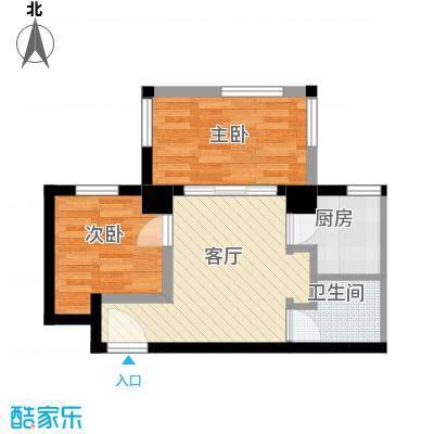 唐品A+51.21㎡在售1号楼2单元奇数层5号房两室户型2室1厅1卫1厨