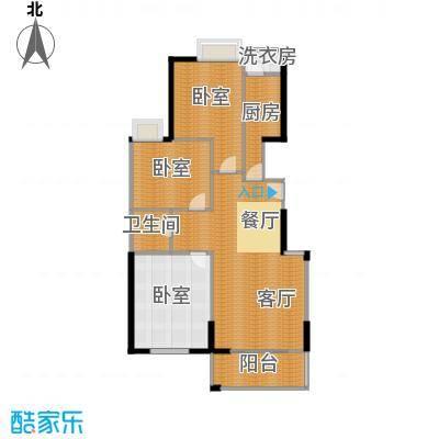 鼎正中央领郡115.00㎡X5、X7中单元西户标准层3室户型3室2厅1卫