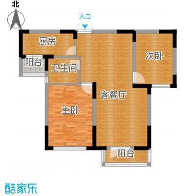 同方广场94.00㎡F户型2室2厅1卫