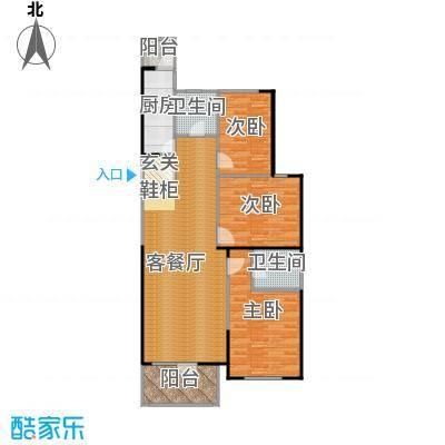 同方广场132.00㎡C户型3室2厅1卫