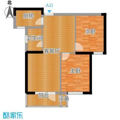 同方广场92.87㎡B户型2室2厅1卫