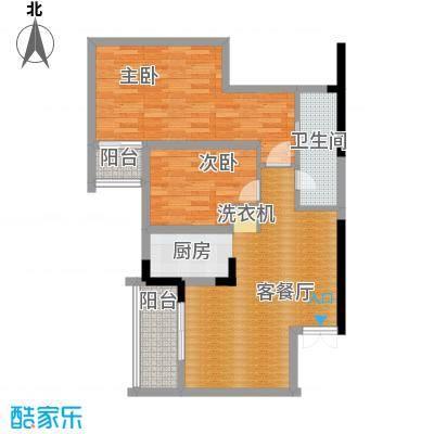海�台北湾91.00㎡B户型2室2厅2卫