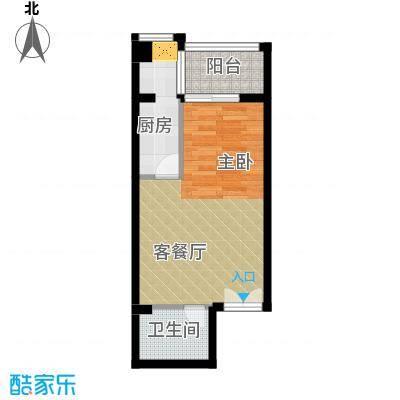 海�台北湾49.01㎡16#楼D户型1室1厅1卫