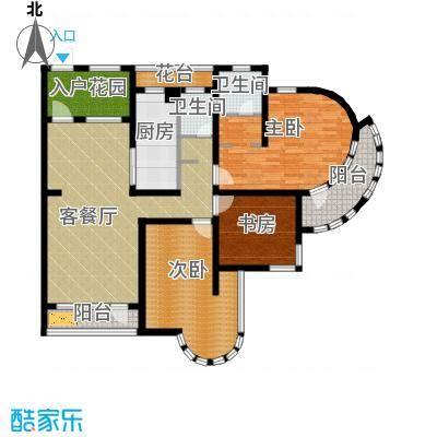 钓鱼台七号127.00㎡房型户型3室1厅2卫1厨