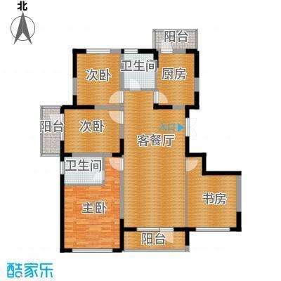 同方广场146.00㎡D户型4室2厅2卫
