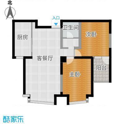 钓鱼台七号80.93㎡(已售完)户型2室1厅1卫1厨