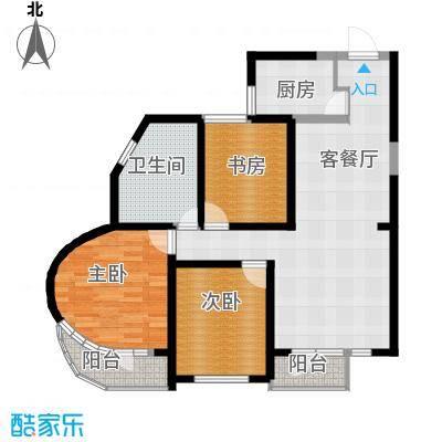 钓鱼台七号117.00㎡房型户型3室1厅1卫1厨