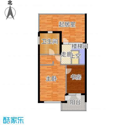 富力新城86.04㎡A1三层户型10室