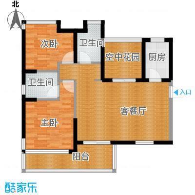 沿海江湾国际94.39㎡A2户型2室2厅2卫