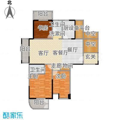紫玉公馆139.00㎡偶数层户型3室1厅2卫1厨
