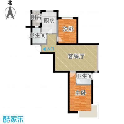 新加坡城102.00㎡户型2室2厅2卫