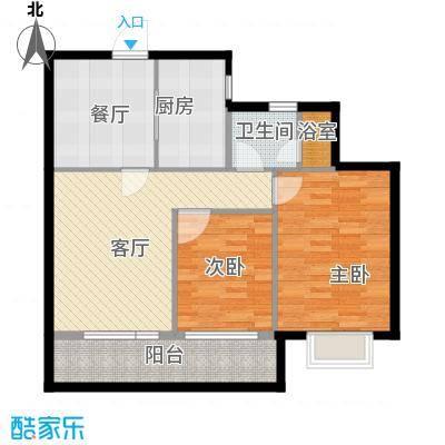 曙光之城89.00㎡1#、4#B户型2室2厅1卫