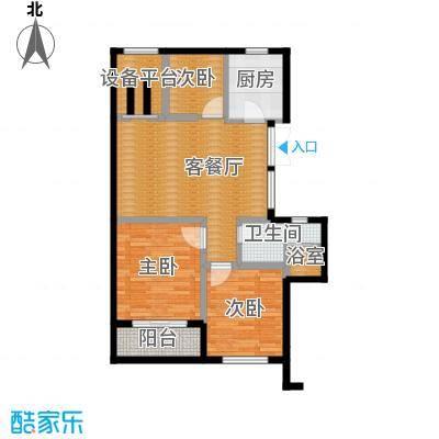 曙光之城89.00㎡11#、13#J2户型3室2厅1卫
