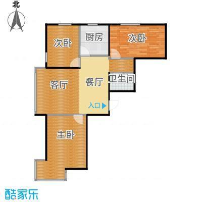 新加坡城97.00㎡B6户型3室2厅1卫