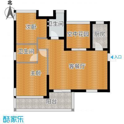 沿海江湾国际92.64㎡A2户型2室2厅2卫
