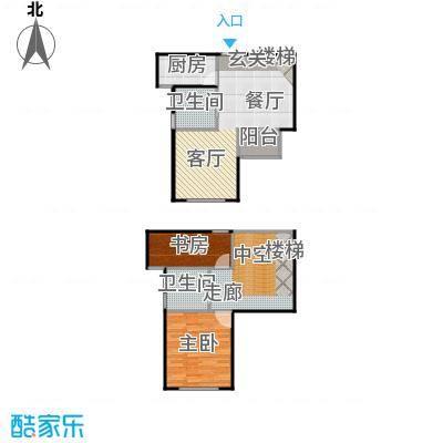 丁桥颐景园92.00㎡B-1户型2室2卫1厨