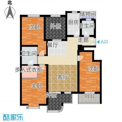 凤城九号175.01㎡4#楼C1户型3室2厅2卫
