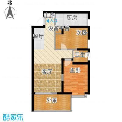 凤城九号86.40㎡2#/6#楼C3户型2室2厅1卫