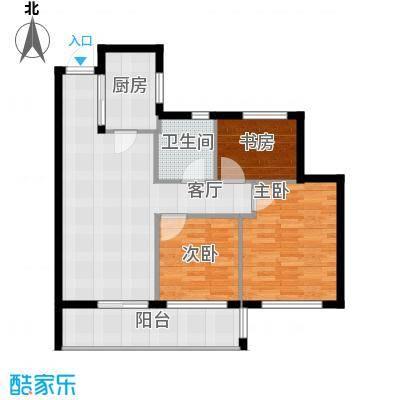 曙光之城89.00㎡5#、8#E1户型2室2厅1卫