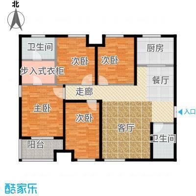 九珑邑158.74㎡1号楼A户型4室2厅2卫