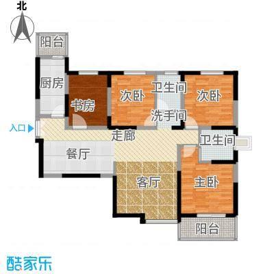 凤城九号133.25㎡C1户型4室2厅2卫