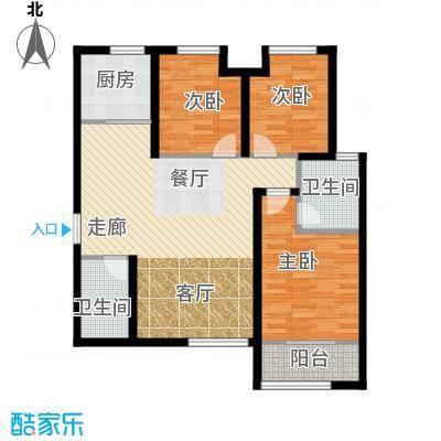 九珑邑123.39㎡1号楼C户型3室2厅2卫