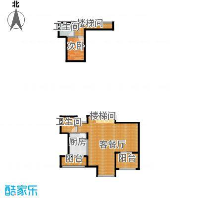 东润枫华111.00㎡E跃式户型1室1厅2卫1厨
