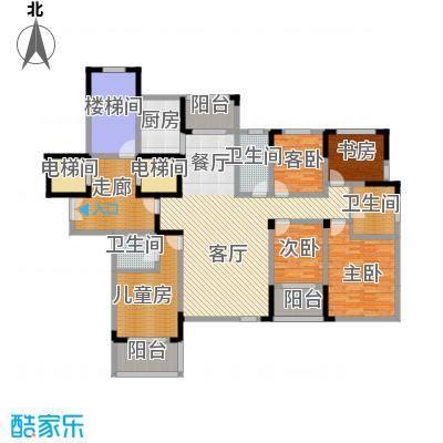 东润枫华186.00㎡C户型5室1厅3卫1厨