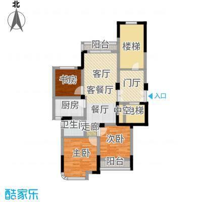 东润枫华88.00㎡B户型3室1厅1卫1厨
