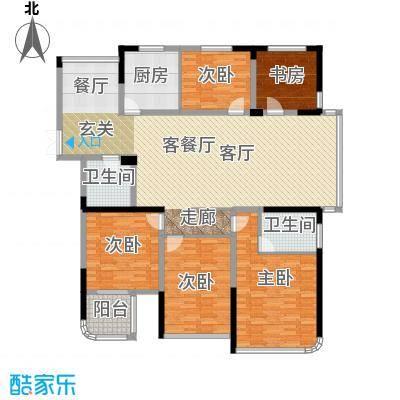 东润枫华176.00㎡F户型5室1厅2卫1厨