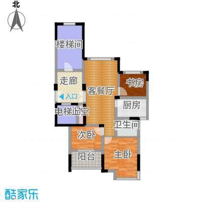 东润枫华89.00㎡I户型3室1厅1卫1厨