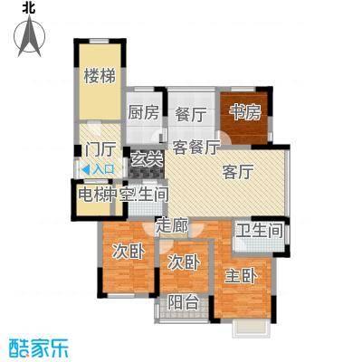 东润枫华139.00㎡A户型4室1厅2卫1厨