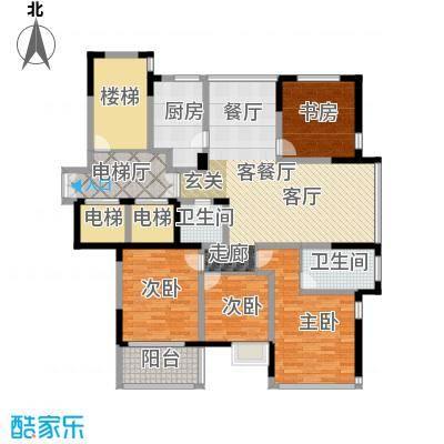 东润枫华159.00㎡J户型4室1厅2卫1厨