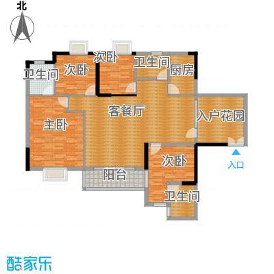 狮子洋1号146.62㎡6-8栋标准层C4户型4室2厅3卫