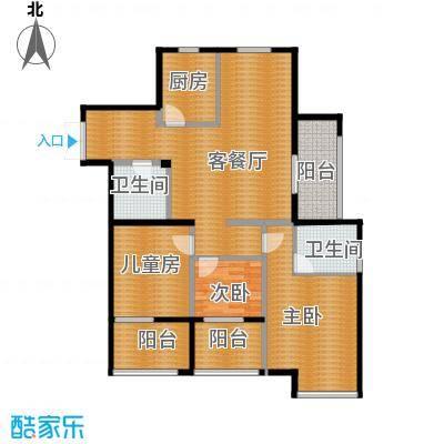 东润枫华139.00㎡D户型3室1厅2卫1厨