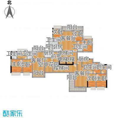 庄士8号120.00㎡11栋3层-27层户型10室