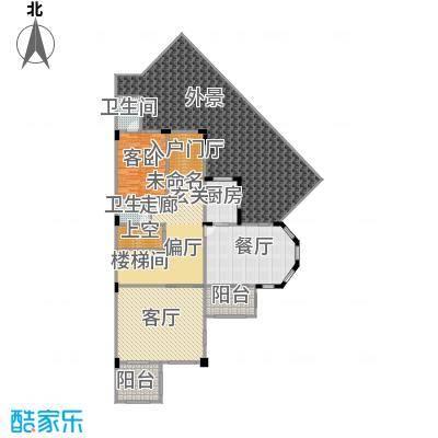 万科麓湖别墅220.65㎡60、61、62栋溪谷别墅的一层户型1室2厅2卫1厨