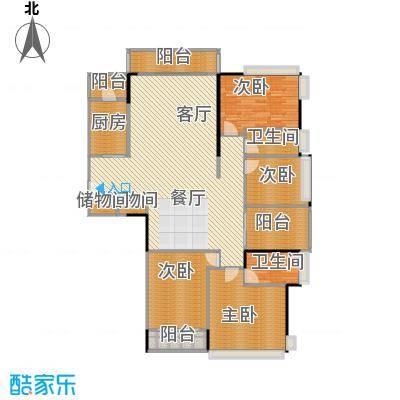 金地格林上院三期163.08㎡2-31&nbsp&nbsp户型4室1厅2卫1厨
