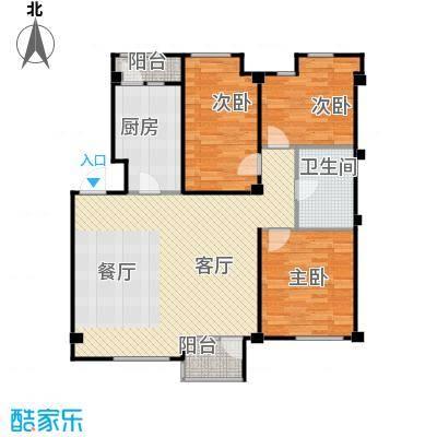 万科兰乔圣菲109.43㎡2-28&nbsp&nbsp别墅面积区间户型3室1厅1卫1厨