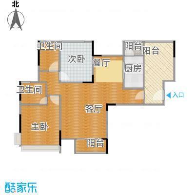 金地格林上院三期91.10㎡2-32&nbsp&nbsp户型2室1厅2卫1厨
