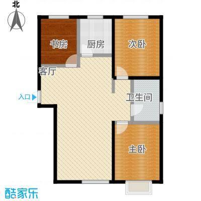 美地庄园105.00㎡户型3室2厅1卫