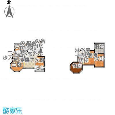 滨海假日132.56㎡九#户型图户型3室2厅1卫