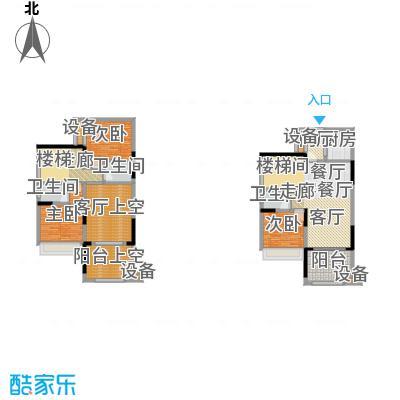 绿城上岛绿城上岛绿城上岛3号楼A-3户型三室两厅三卫套内121.61㎡户型图户型