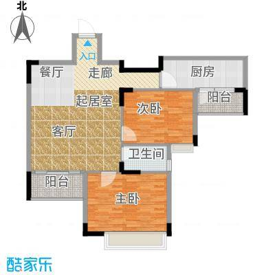 三正世纪豪庭98.55㎡户型2室1卫1厨