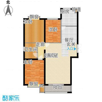 青熙境124.90㎡户型面积124.9平米户型3室2厅1卫