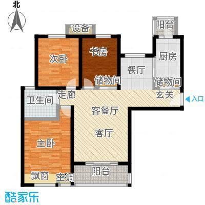 湖山新意115.00㎡湖山新意户型图B4户型三室两厅一卫(3/5张)户型3室2厅1卫