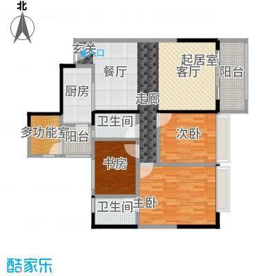 长堤1号95.00㎡131栋01户型3室2卫1厨